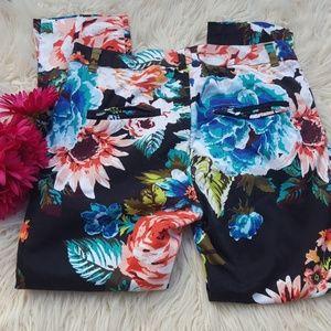 H & M flower pants
